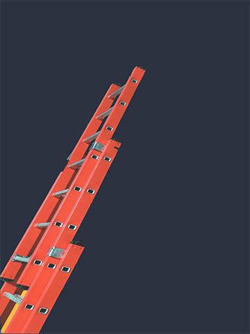 نردبان ۱۸ پله ۲ کشو افرا