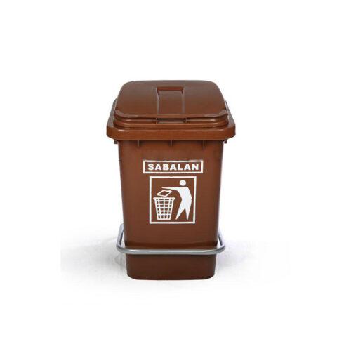 مخزن زباله ۴۰ لیتری پدالی
