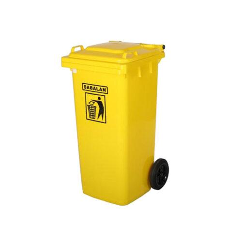مخزن زباله ۱۲۰ لیتری ساده