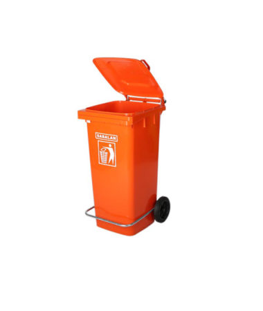 مخزن زباله ۱۰۰ لیتری پدالی