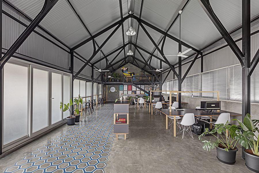 دفتر مدرن صنعتی استودیو M9