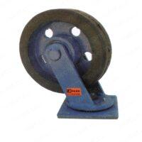 چرخ آهنی روکش لاستیک گردان