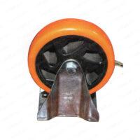 چرخ ورقی پایه سفید نارنجی ثابت
