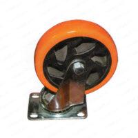 چرخ ورقی پایه سفید نارنجی گردان